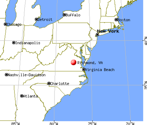 Richmond, Virginia becomes new CSA capital.