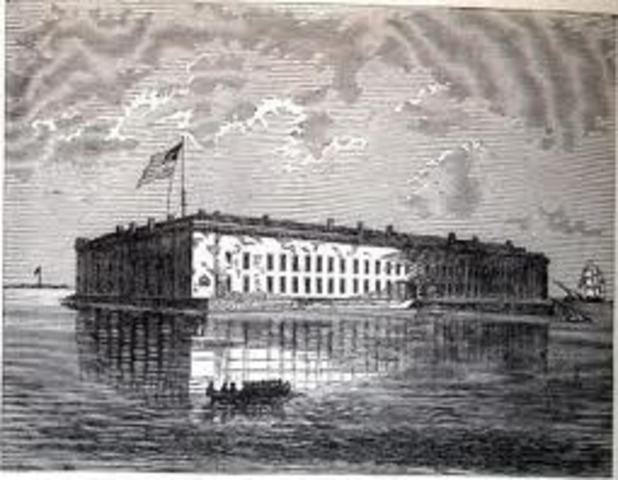 Rebels Shell Fort Sumter; War is On