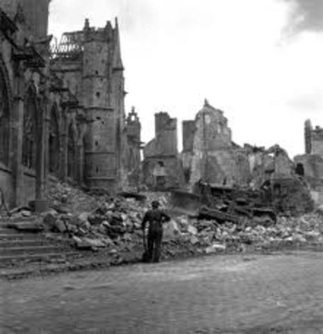 North Amsterdam gets bombed