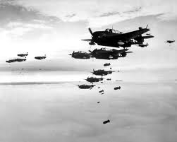 The ladies are scared of the air raids.