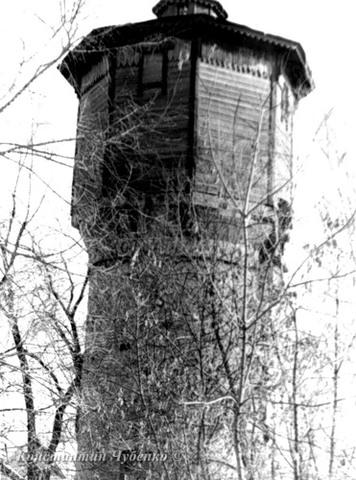 На левом берегу Уссури построена деревянная водонапорная башня