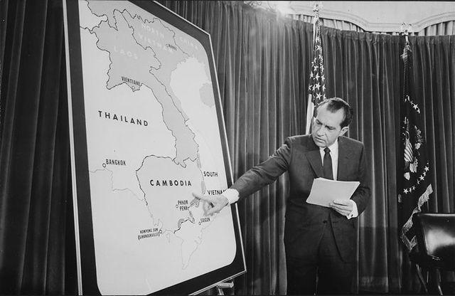 Nixon orders invasion of Cambodia