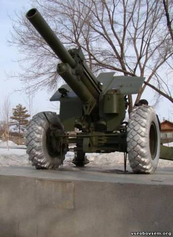 На Площади Славы установлено артиллерийское орудие