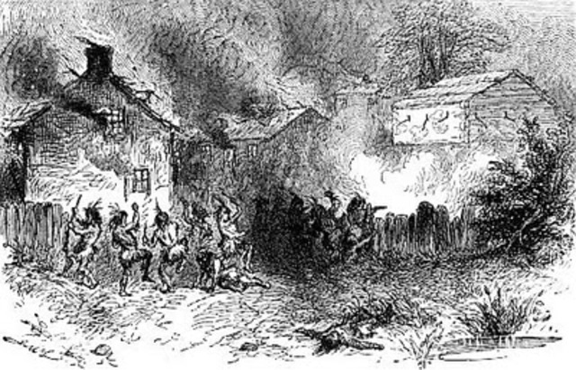 Native Americans' Attack on English Settlers