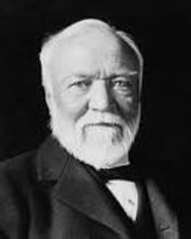 Andrew Carnegie Opens First Steel Mills in Pittsburgh, Pennsylvania