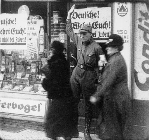 Nazis organized a boycott of Jewish- owned businesses in Germany.