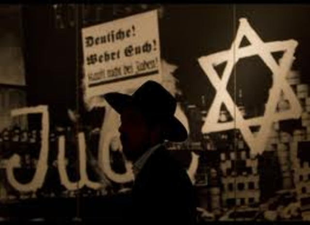 First anti-Jewish laws passed.  Jews are no longer allowed to be public employees (teachers, post office workers, government workers).