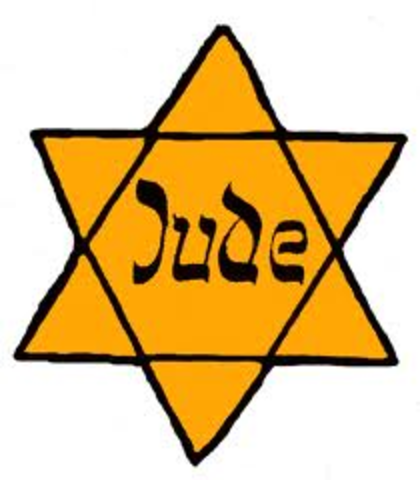 """Jews over six years of age to wear yellow star with word """"Jew""""."""
