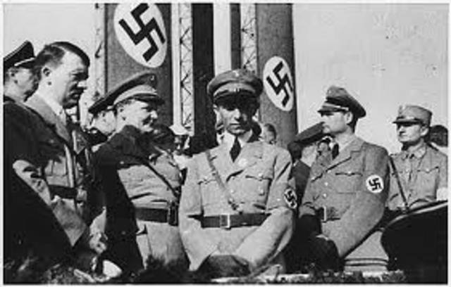 Nazi officials meet in Wannsee to organize the Final Solution (mass murder of Jews in Europe).