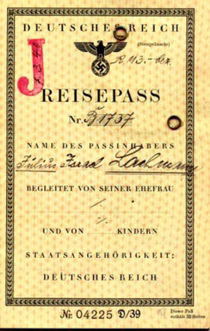 Passports of Jews to be stamped with ''J.''