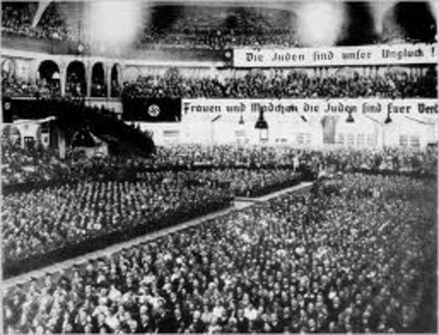 Nazis organize a nationwide boycottof jewish-owned buisnesses