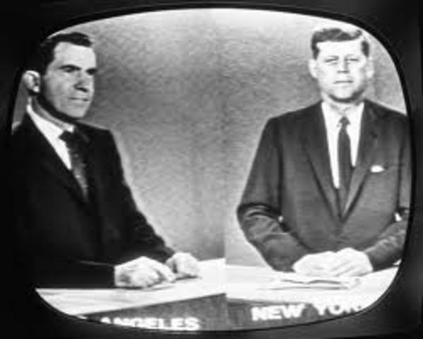 First Televized Presidential Debate by Richard Nixon and JFK.
