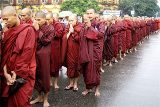 Monk Protest