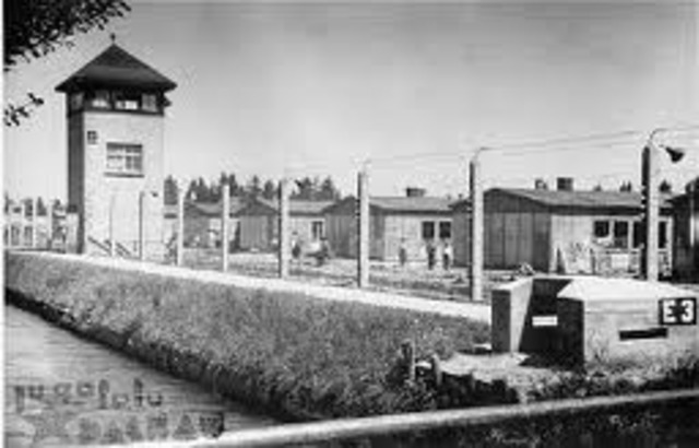 First concentration camp established at Dachau, Germany for political opponents