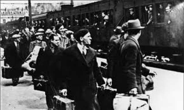 Deportation of Jews from Germany to the ghettos if Lods, Riga, and Minsk begins.