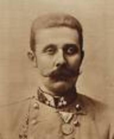 Archduke Franz Ferdinard assassinated