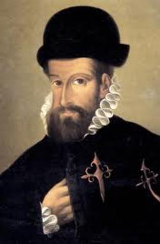 Francisco Pizarro meets Atahualpa
