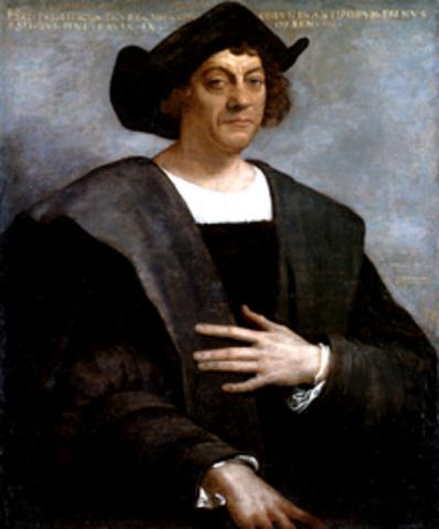 C. Columbus spots land in North America