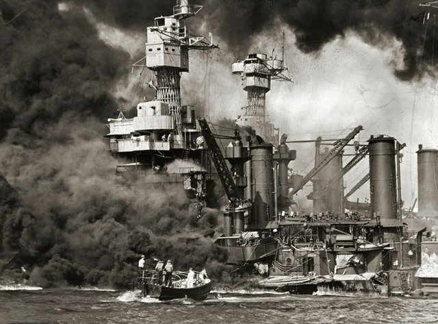 Japan attacked the USA fleet at Pearl Harbour