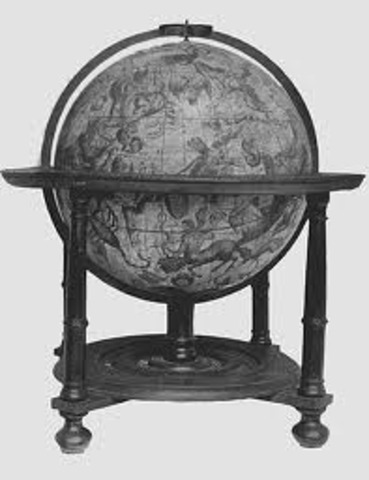 Invention - Watered powered celestial globe