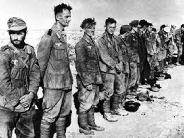 Britain defeats Germans & Italians in Egypt