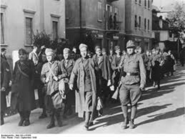 Badoglio surrenders unconditionally to Allies