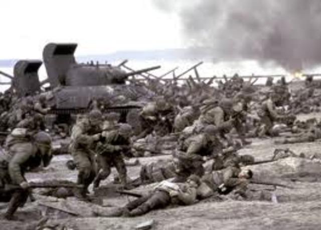 Americns land at Iwo Jima