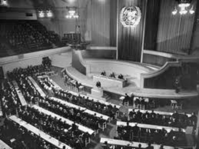 First meeting of the United Nations General Assembly