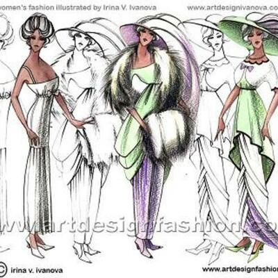 1900-2000 fashion  timeline