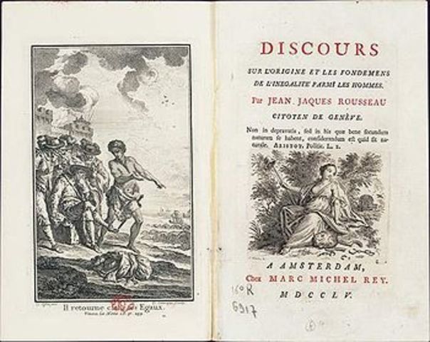 Rousseau publishes Discourse on equality.