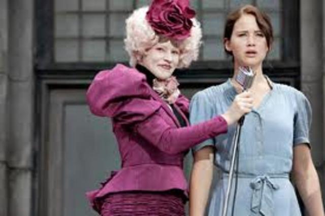 Katniss nimmt auch an den spielen teil