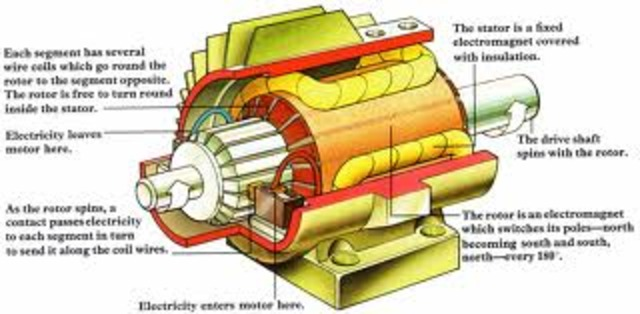 •Thomas Davenport invented the electric motor, an invention that is used in most electrical appliances today.