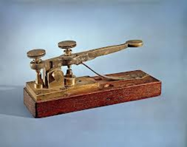 Samuel Morse invented the electric telegraph, a machine that could send messages long distances across wires.