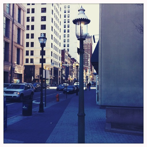 First gas-powered street light in the USA.