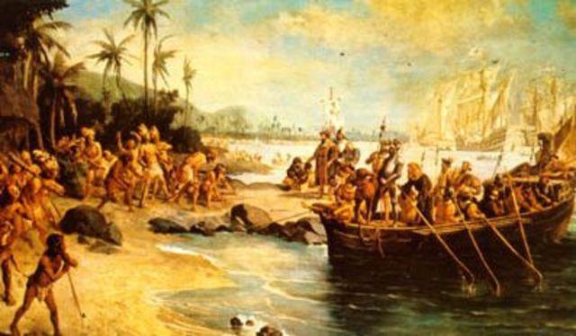 conquista do território pelos portugueses em 1500