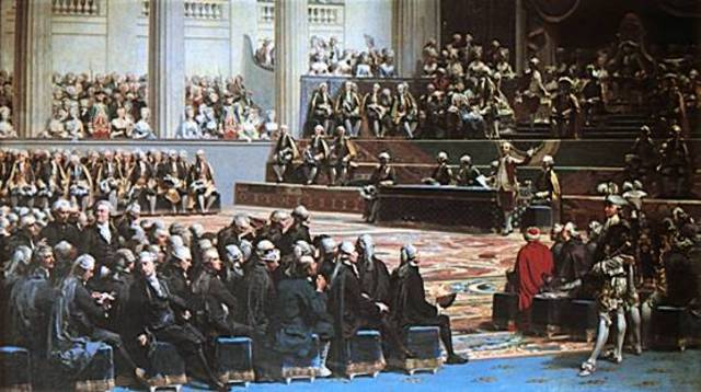 King Louis XVI called together the Estates- General, the governing body of France to deal with his need to raise taxes