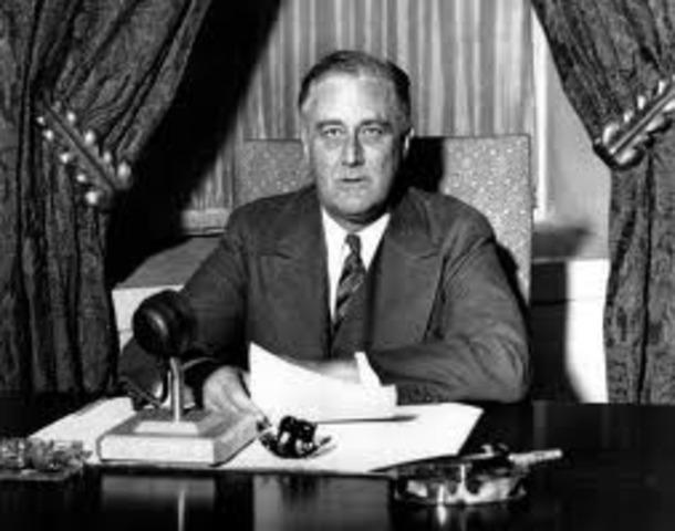 Rosevelt becomes U.S president