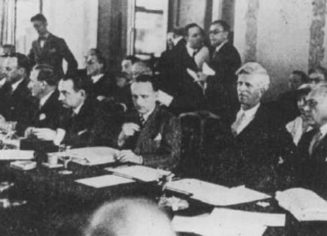 Representatives from thirty-two countries meet at Evian, France, to discuss refugee policies. Most of the countries refuse to let in more Jewish refugees.