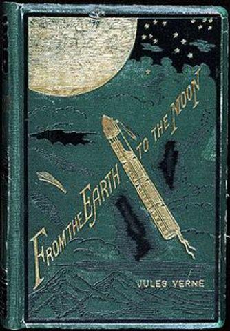 Från jorden till månen av Jules Verne