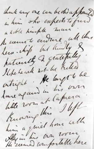 Letter to his wife on October 24 1862