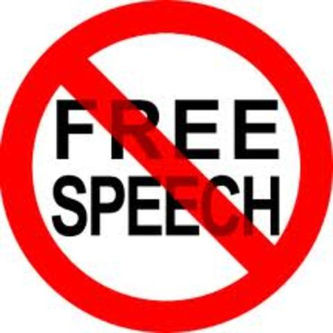 The German government takes away freedom of speech, assembly, press, and freedom from invasion of privacy and from house search without warrant.