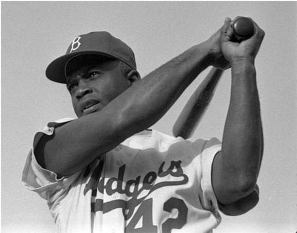 Jackie Robinson debuts at first base for the Brooklyn Dodgers