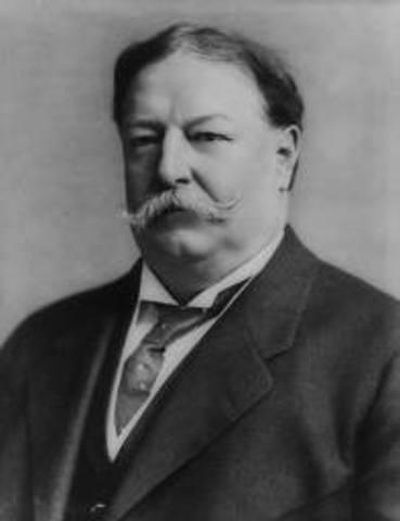 President Taft Signs