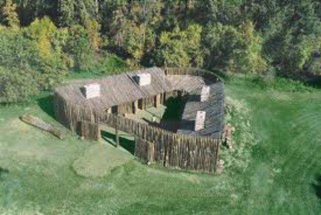 Building begins on Fort Mandan