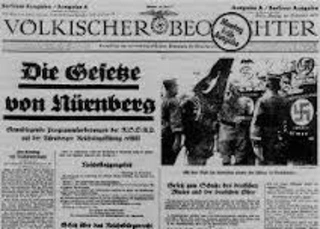 The Nuremberg Laws...