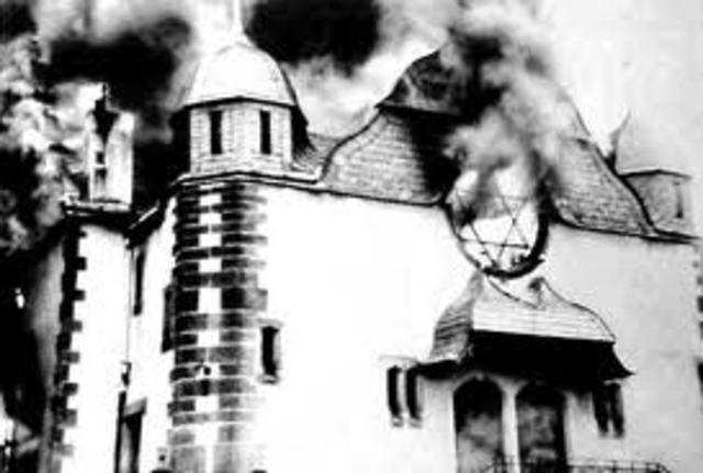 "Kristallnacht (""Night of Broken Glass""):"