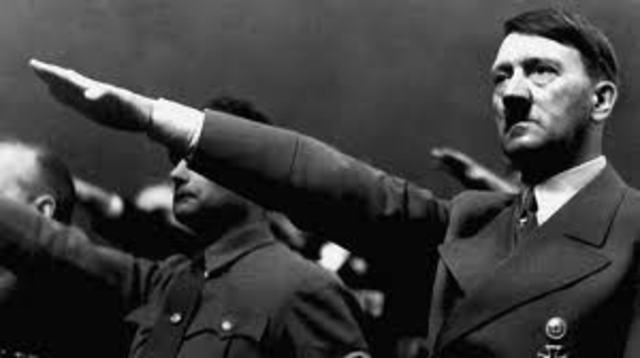 Adolph Hitler declares himself president and chancellor of the Third Reich after the death of Paul von Hindenburg