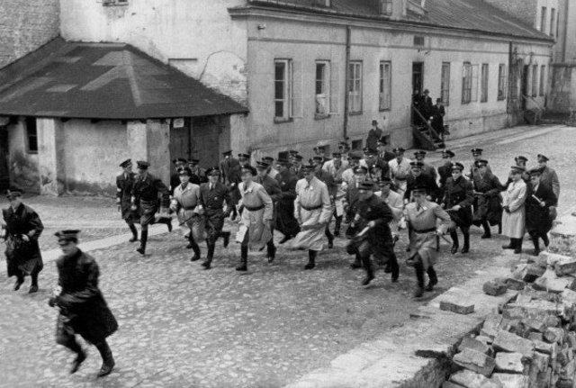 The Warsaw ghetto...