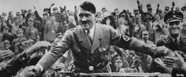 Adolf Hitler declares himself president and chancellor of the Third Reich after the death of Paul von Hindenburg.