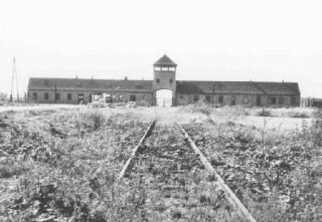 A concentration camp is established at Auschwitz, Poland.